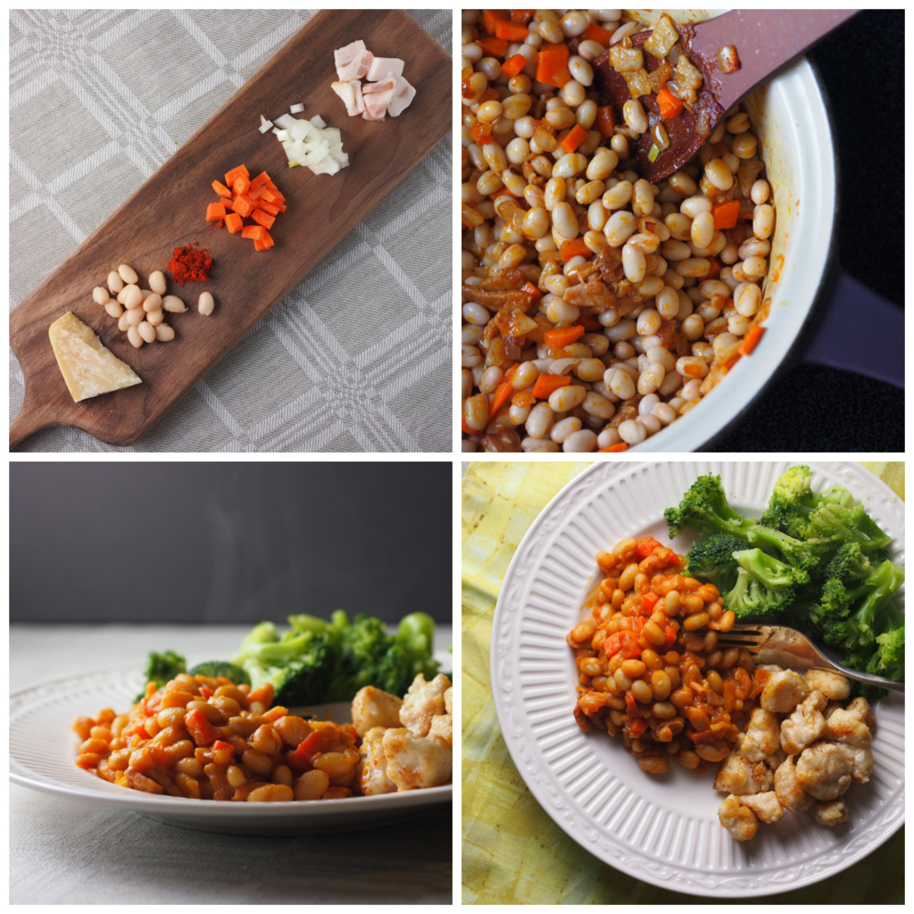 beans with paprika and parmesan | asavoryplate.com