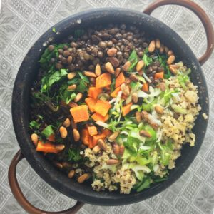 Potluck grain salad | asavoryplate.com